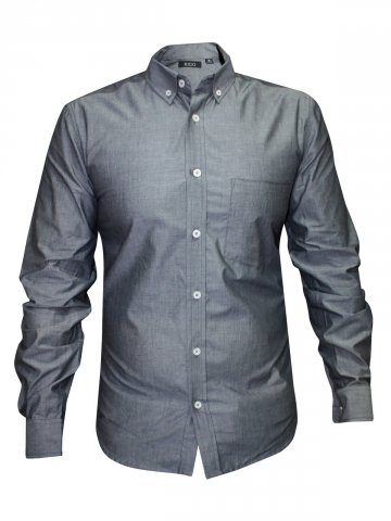 Rigo Pure Cotton Grey Formal Shirt at cilory
