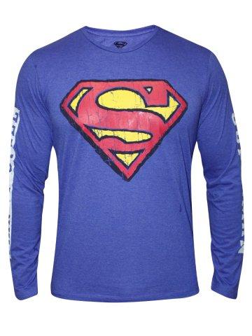 2ae5c7735 ... Blue Melange Round Neck Full Sleeves T Shirt.  https   static4.cilory.com 143660-thickbox default superman-