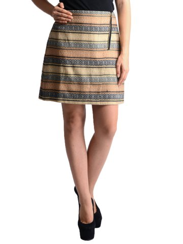 Oranje Beige Black Skirt at cilory
