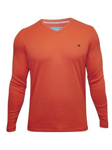 https://static2.cilory.com/150666-thickbox_default/numero-uno-orange-v-neck-100-cotton-sweater.jpg