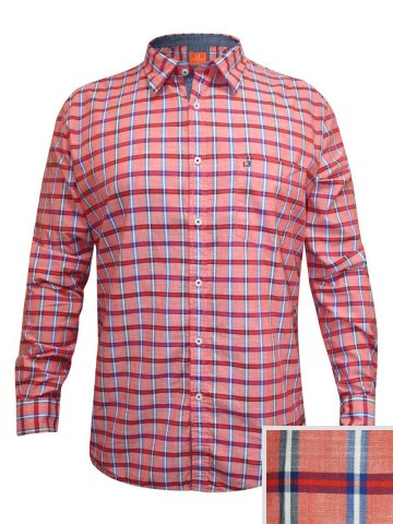 https://static.cilory.com/158794-thickbox_default/londonbridge-pink-casual-check-shirt.jpg