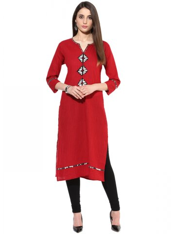 https://static2.cilory.com/182331-thickbox_default/jk-s-cotton-solid-3-4th-sleeves-red-kurti.jpg