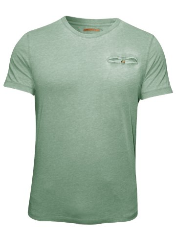 Peter England Green Round Neck T-Shirt at cilory