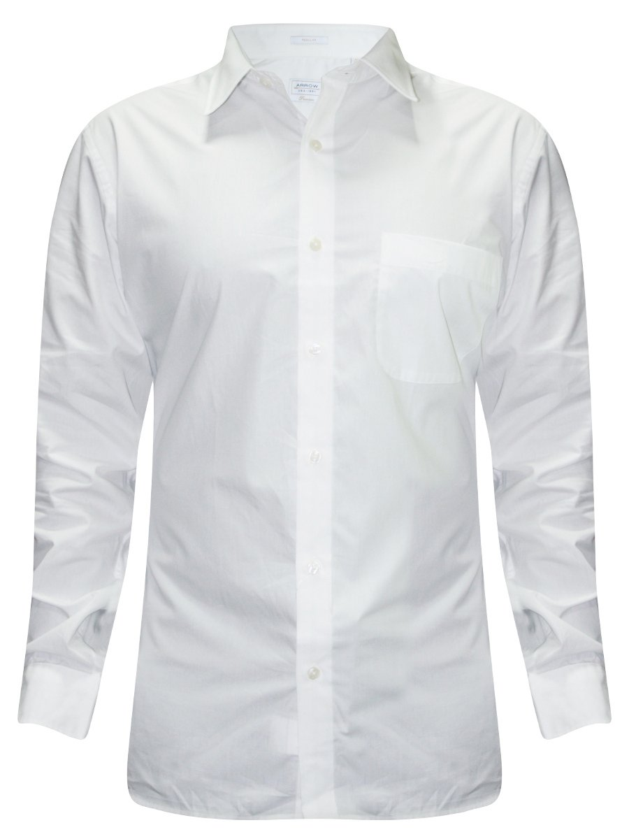 Arrow White Solid Formal Shirt | Ares0300b-fs