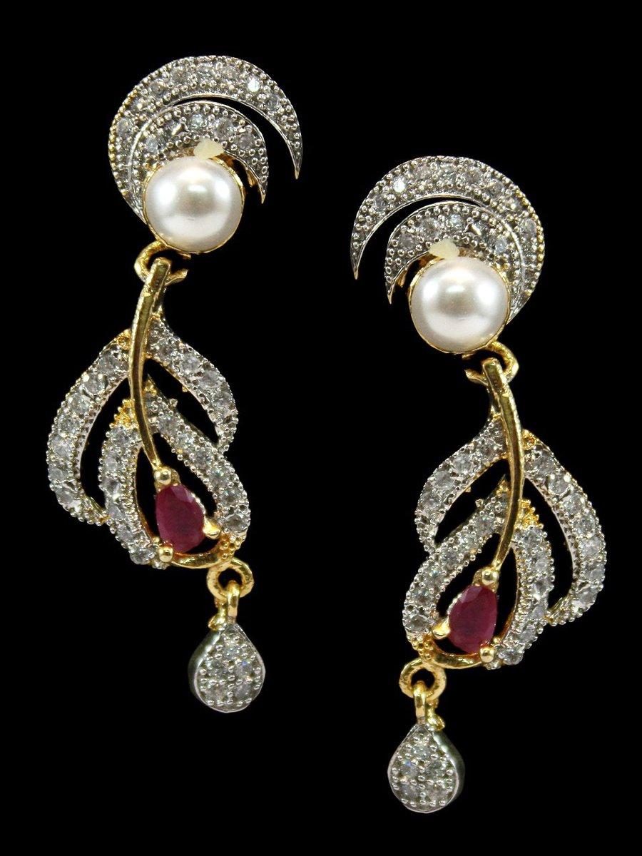 American Diamond Earrings   C50-rj5