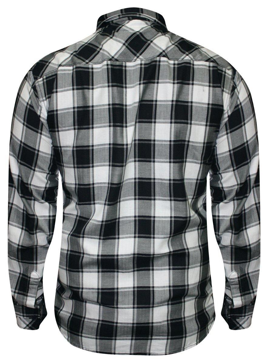 Spykar Black & White Casual Checks Shirt | Msh116fc02af-black ...