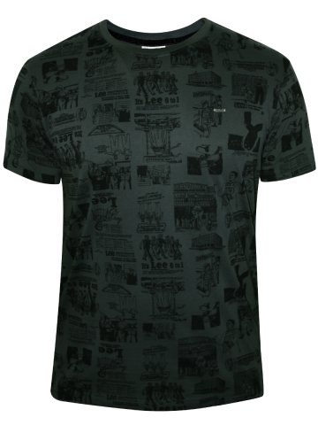 LEE Forest Green Men's Round Neck T-Shirt at cilory