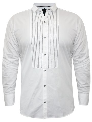 Alpha Male White Partywear Shirt at cilory