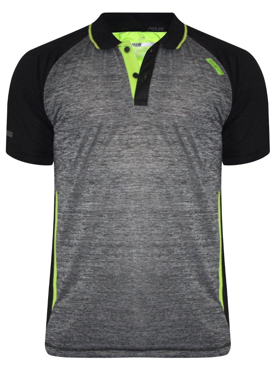 Proline Charcoal Melange Sports Polo T Shirt Pa11403 Cml