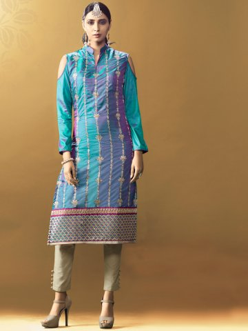 https://static7.cilory.com/238143-thickbox_default/glint-green-purple-designer-two-tone-kurti.jpg