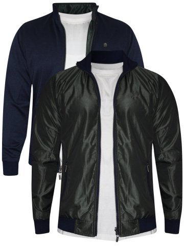 Peter England Green & Blue Reversible Jacket at cilory