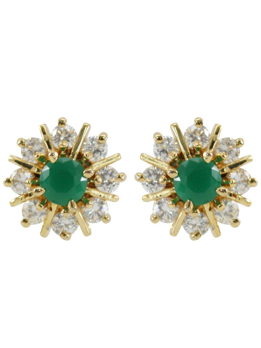 Beautiful Emerald Stone Earrings D42 St09 Cilory Com