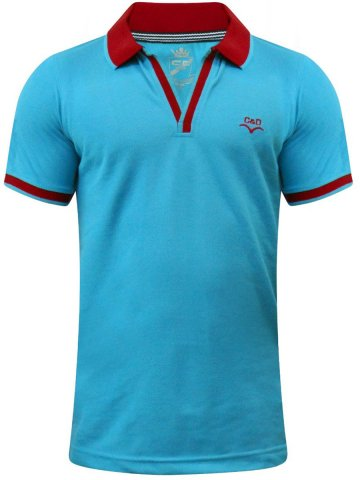 Monte Carlo C&D Sky Blue Polo Tee at cilory