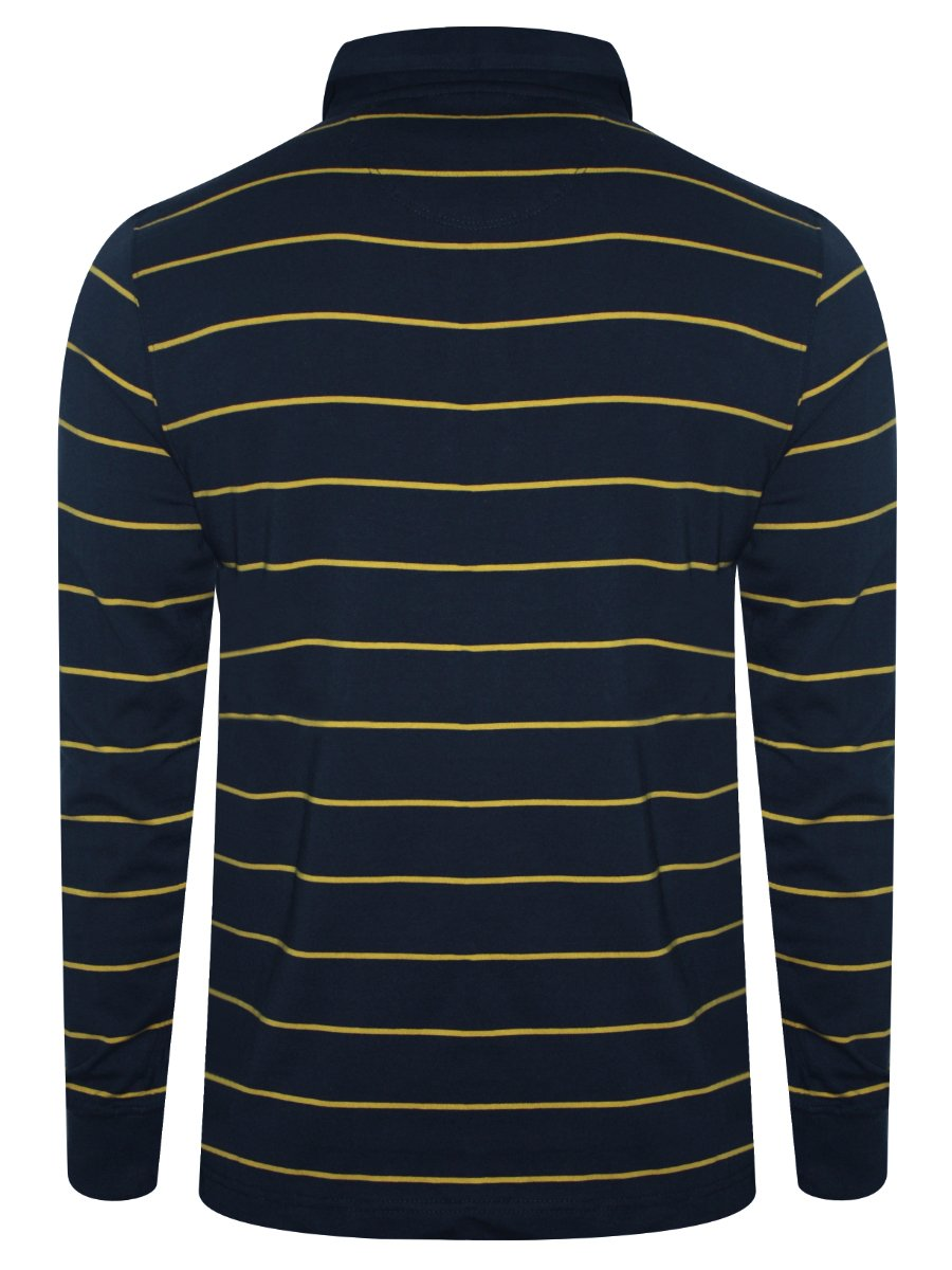 8a3adba2 Buy T-shirts Online | Levis Navy & Yellow Full Sleeves Polo T-shirt ...