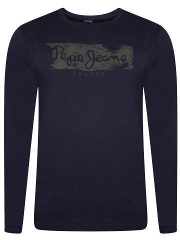 b17390b3dc Pepe Jeans Dark Blue Full Sleeves Round Neck T-shirt