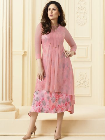 d89d8ab702 Bebo Light Pink Kurti With Printed Inner | Vinay-33811 | Cilory.com