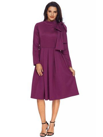 https://static2.cilory.com/316843-thickbox_default/purple-bowknot-embellished-mock-neck-pocket-dress.jpg