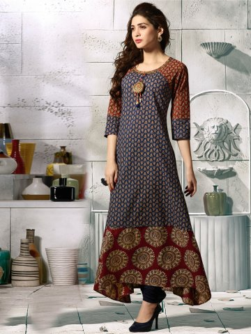 https://static7.cilory.com/324197-thickbox_default/kessi-blue-rust-cotton-printed-gown-style-kurti.jpg