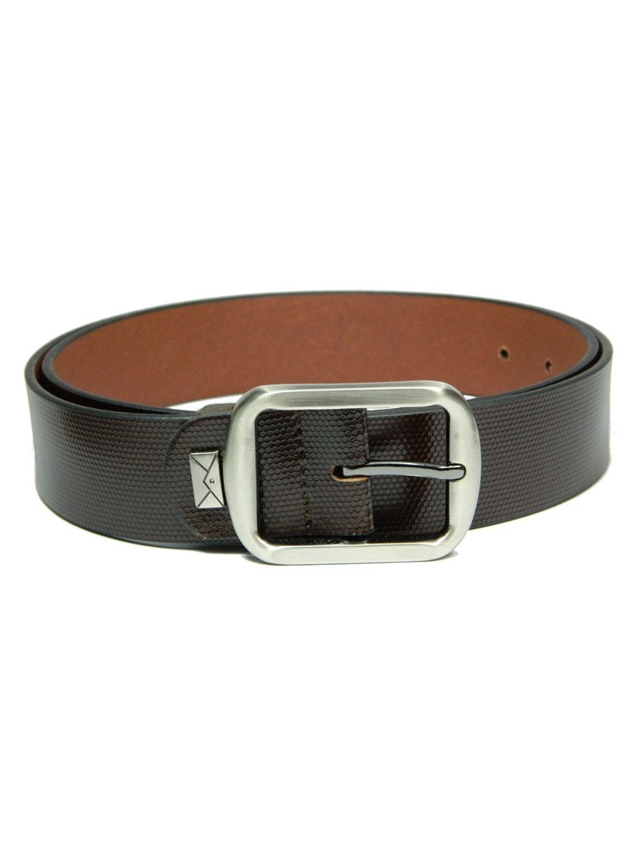 formal profile leather belt brown fp347 cilory
