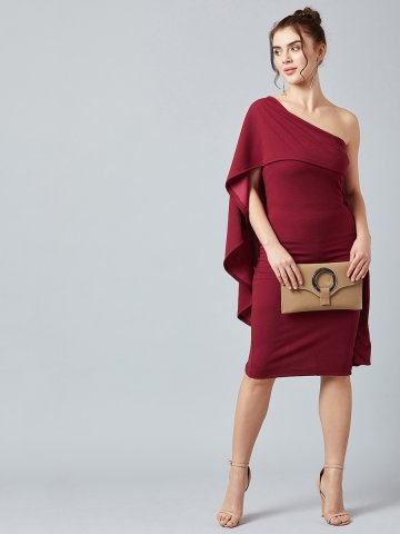 https://static.cilory.com/391295-thickbox_default/estonished-maroon-one-shoulder-bat-sleeves-dress.jpg