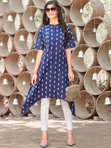 https://static6.cilory.com/406431-thickbox_default/100-miles-navy-blue-asymmetrical-cotton-kurta.jpg