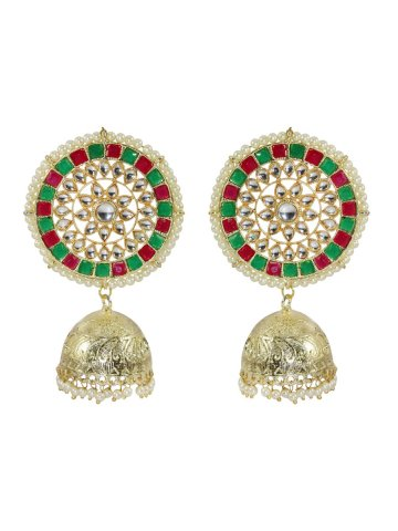 https://static7.cilory.com/407236-thickbox_default/golden-green-meenakari-work-earrings.jpg