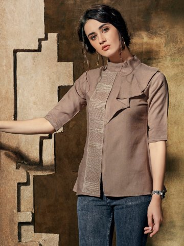 https://static1.cilory.com/410582-thickbox_default/brown-closed-neck-top.jpg
