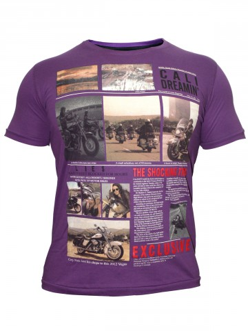 California Bike Purple T-Shirt at cilory
