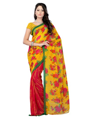 https://static2.cilory.com/89853-thickbox_default/jaipur-kurti-s-sparkling-yellow-and-red-renial-saree-paired-with-blouse.jpg